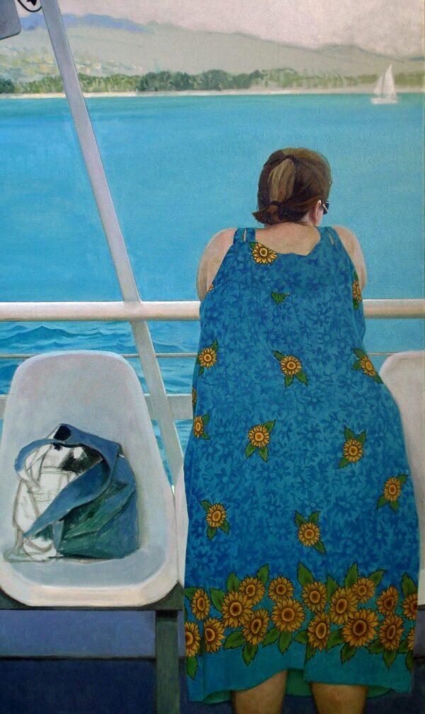 "蓝色夏威夷 24x40"" oil on canvas"