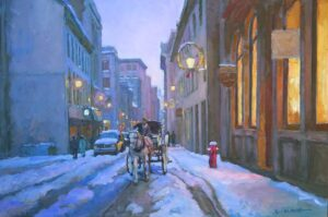 "Old Montreal, 蒙特利尔老街 24x36"", 2013 oil on canvas"