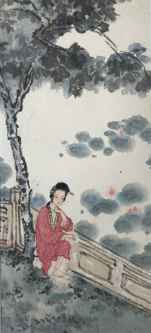 Xiaoling Guo 022 荷塘消夏图 23x50cm