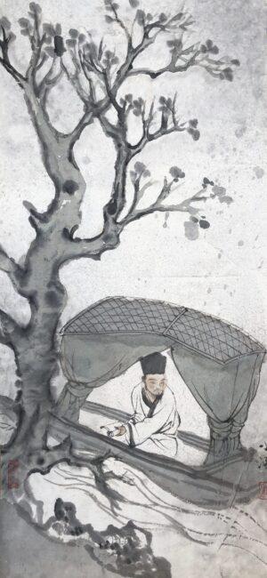 Xiaoling Guo 028 乌蓬船 22x48cm