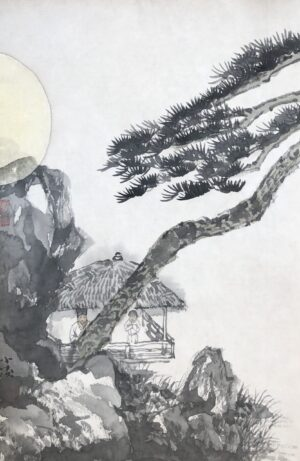 Xiaoling Guo 032 半月 27x42cm